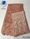 Beautifical African guipure peach guipure chemical fabric nigerian lace with beads RFG140