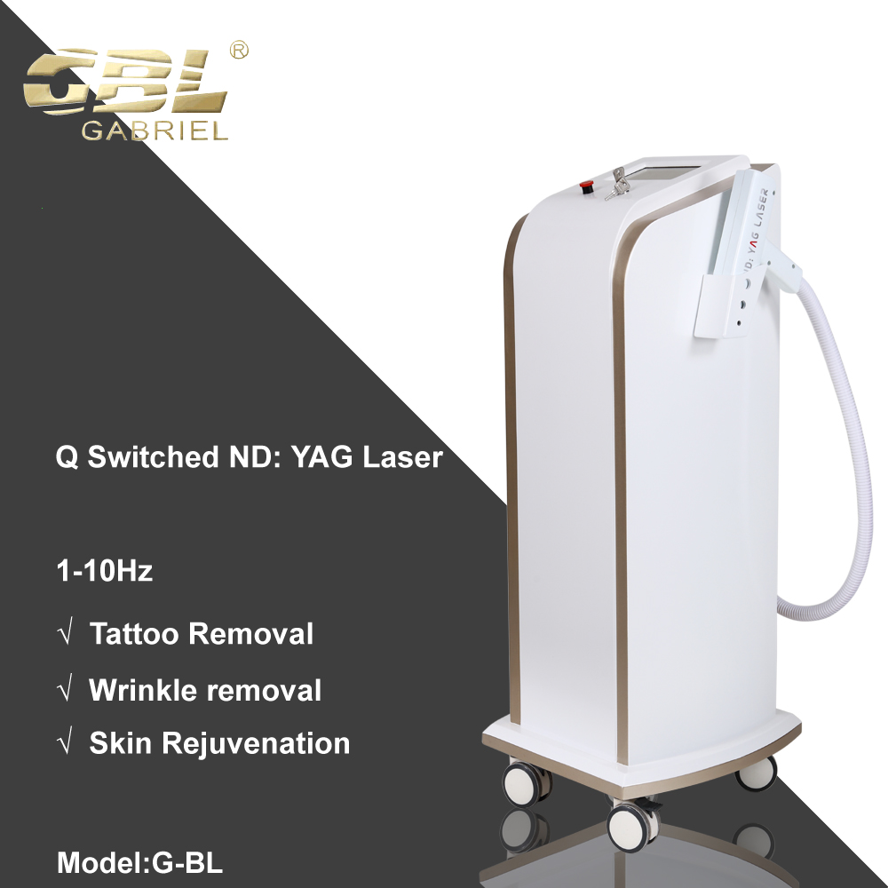 High quality machine grade q switched nd yag laser tattoo instrument for wholesales