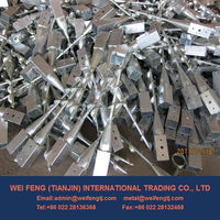 Hot Dipped Galvanized Post Anchor Screw Anchor Fence Spike