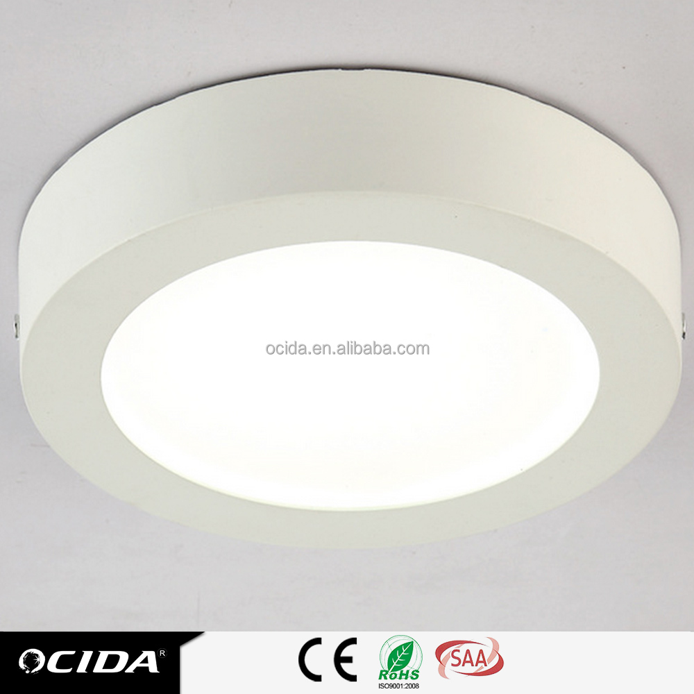 12W Surface mounted installation ceiling lamp led panel light round 18w