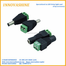Female Male DC connector 2.1mm x 5.5mm Power Jack Adapter Plug wire Connector for 3528 5050 5730 single color led tape