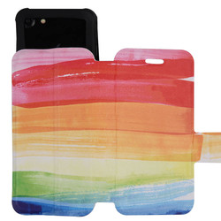 C&T Rainbow Color Pu Leather Phone Cover Case for Xiaomi Mi Note 2