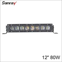 new arrival ! Single row 80W high low beam LED light bar new design for the cover 10w*8pcs for offoad/suv/atv/utv/Jeep