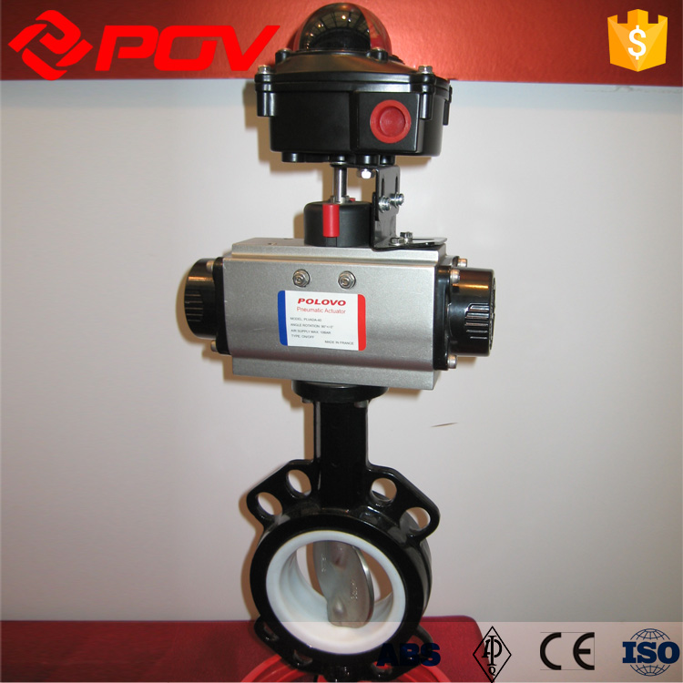 low price PTFE seat butterfly valve DN250