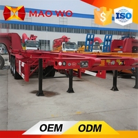 MAOWO Trailer Tractor Diesel Engine, 20ft Container Carry Flatbed Truck