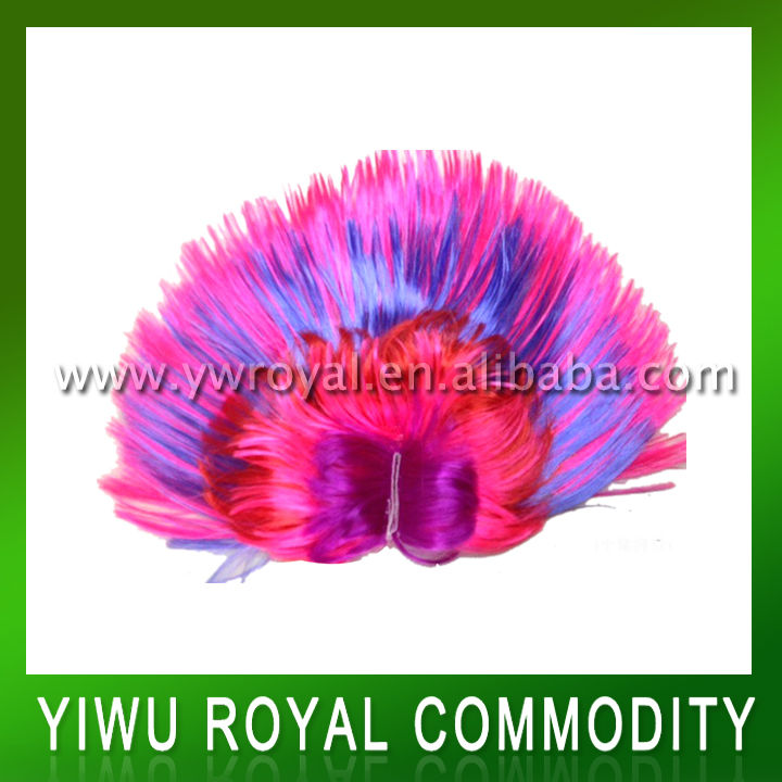 Promotion Muti-color Synthetic Party Mohawk Wig