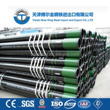 API 5CT J55 Seamless Carbon Steel Oil Casing Pipe End: EU/NU