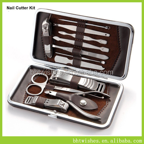 12 In 1 Stainless Steel Nail Care Men Pedicure Manicure Kit