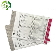 Custom polymailer packaging satchel bags poly postal packaging bags courier bags with pouch