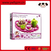 Wooden cutting toys funny kitchen set