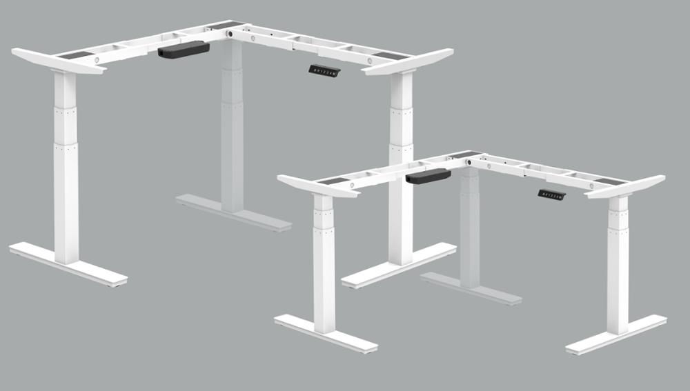 height adjustable computer desk electric 3 legs frame