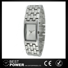 Lady dressing Silver metal Elegant Bangle women watch