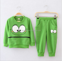 SportsWear Tracksuit Outfit Smiling Face Unisex Suit Autumn Baby Boys Kids clothes set