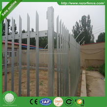 cheap wrought iron fence panel... 1.8m height hot dipped galvanized steel palisade fence