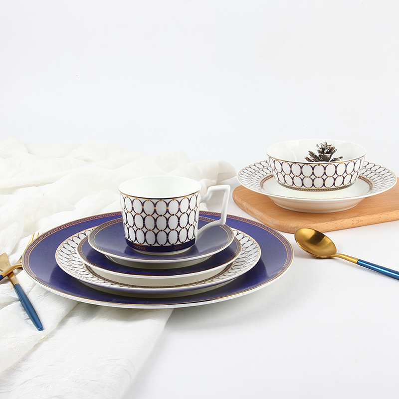 famous restaurant dinner <strong>plates</strong> and dishes / royal Dubai bone china dinnerware set