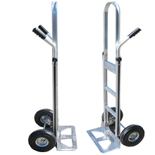 Supermarket construction dual handle foldable hand trolley folding push cart