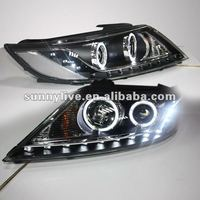 2009-2012 LED Angel Eyes Head Lamp for Kia Sorento