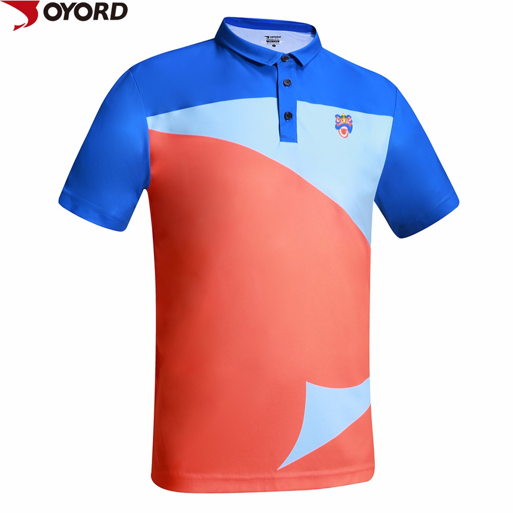 2017 high quality sublimated transfer printing dry fit for Custom dry fit polo shirts
