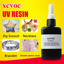 One Part Transparent UV Resin adhesive Fast Cure 2-3Mins By Sunlight 3D Doming Resin Glue Used For Stickers UV Resin Hard 25g