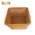 Multi-purpose rattan craft stackable rack kitchen basket for food storage