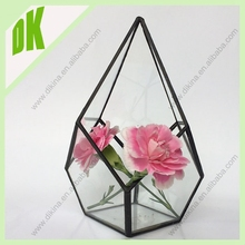 Wall Art *** Wall Hanging Plant ** Wire flower pot dollhouse miniature ** floral arrangement in glass hanger wire flower pot