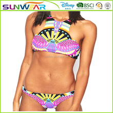 New arrival hot Women's fascinating 2PCs sling Bikini Swimsuit top and bottom