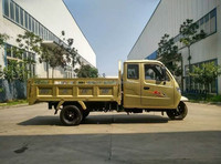 Hot Sale Cab Adult Tricycle 1000CC dumper Best Quality Closed Container Triciclo Water Cooled 2 Seats 5 Wheeler for sale