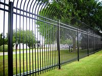 Residential Galvanized steel customizable construction picket fence