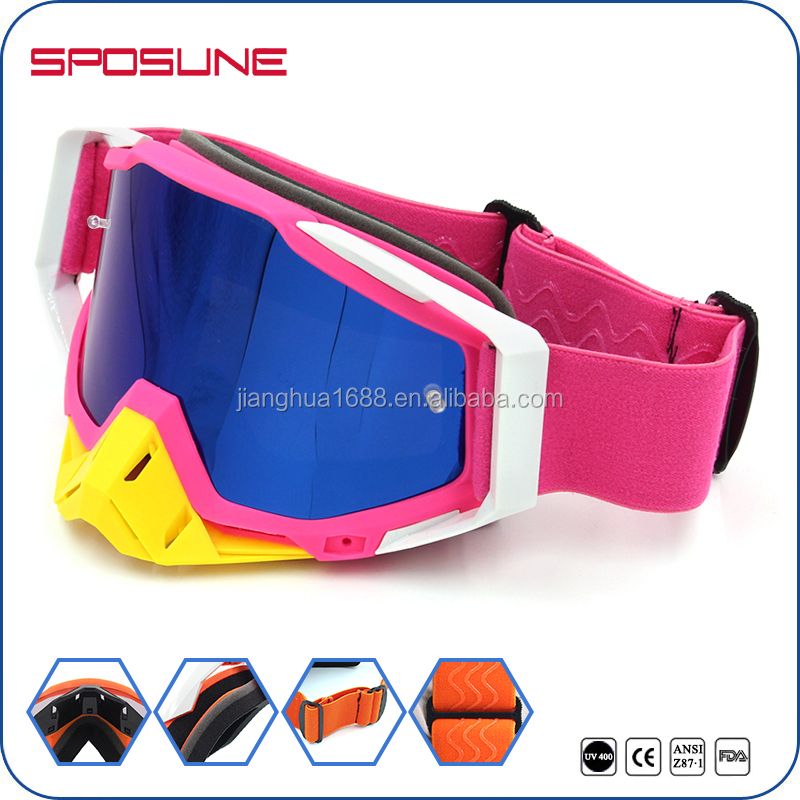 Coolest Design Foam Padded Dirt Bike Off Road Motorcross Racing Goggles With Nose Guard