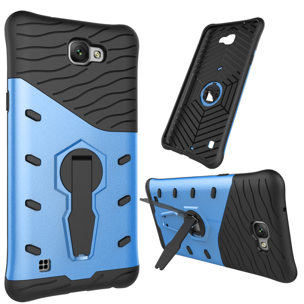 <strong>2</strong> in 1 armor stand holder plastic silicone soft cell phone case for lg x max