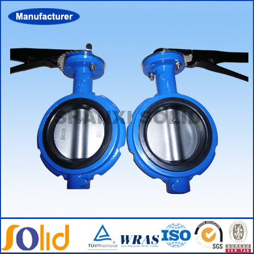 Ductile iron wafer type flange butterfly valve dn200