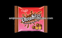 CHOCO BITES CHOCOLATE COATED BISCUITS.