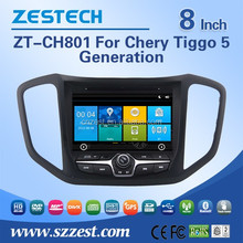 8 inch in-dash 2 din car central multimedia system for Chery Tiggo 5 car media player car dvd with Steering wheel control GPS 3G