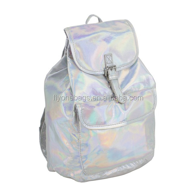 Fantasy holographic leather backpack