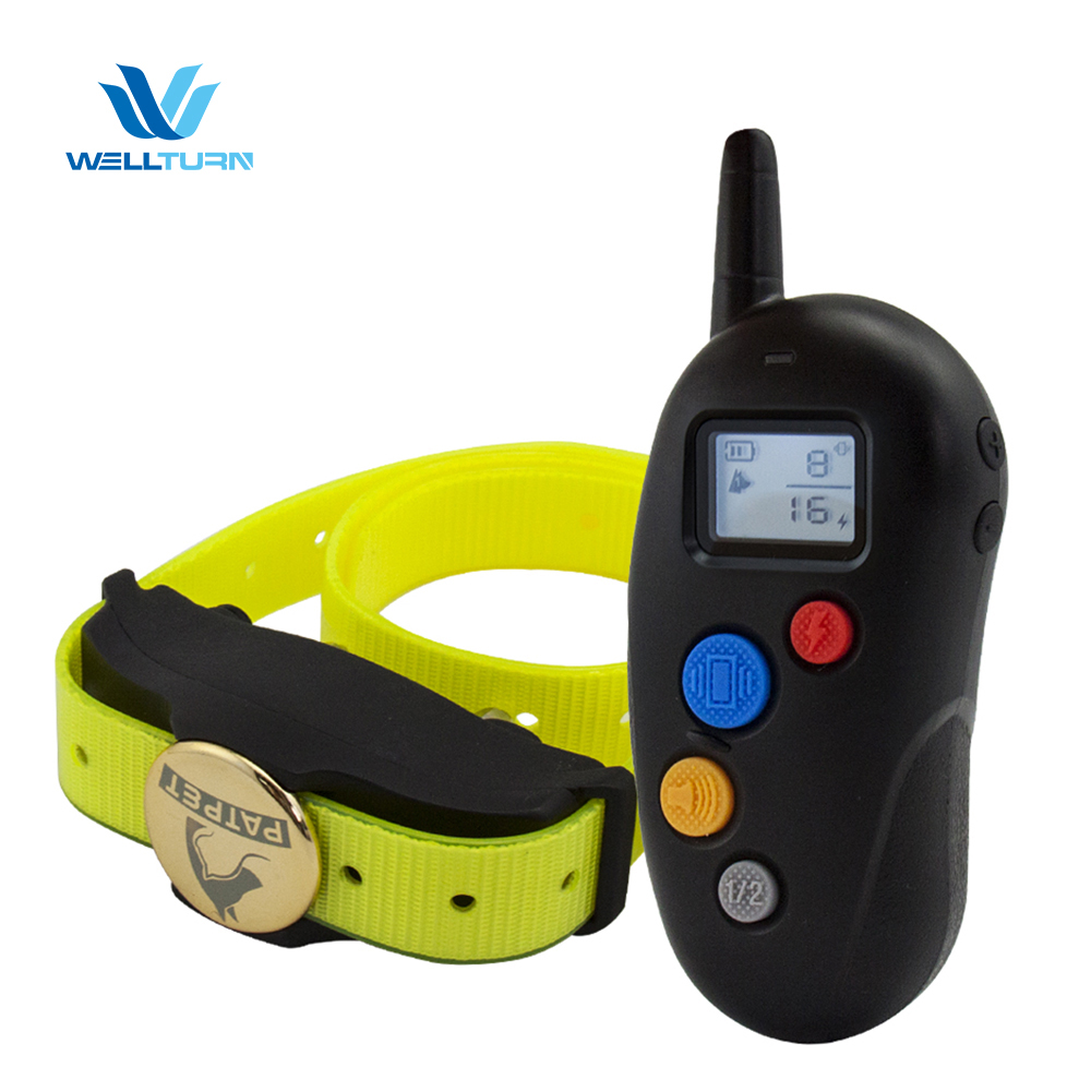 2018 Pet training shock device electric meter stop waterproof Collar multi-dog training system with TPU for Dog training collar