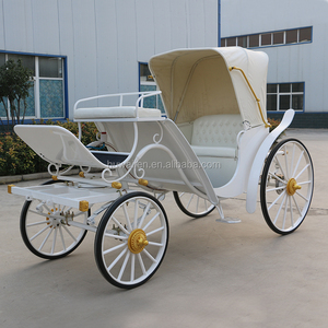 Romantic White pony size Wedding Horse Carriage/ sightseeing Horse Wagons for Sale