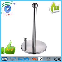 High quality standing stainless steel kitchen paper towel holder for hotel