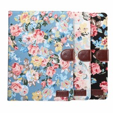 New flower pattern smart Leather Flip Stand Cover For ipad pro 10.5 case tablet
