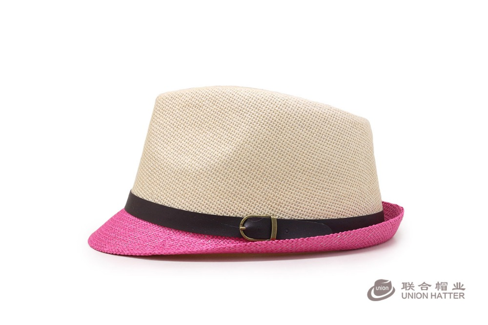 2017 Summer sun beach color fedora panama paper cheap mens straw hats