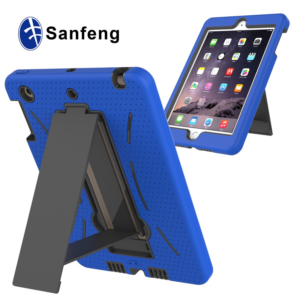 Soft Silicone and Plastic Cover Case For Ipadmini 1 2 3 High Quality Smart Case For Ipad mini1 2 3