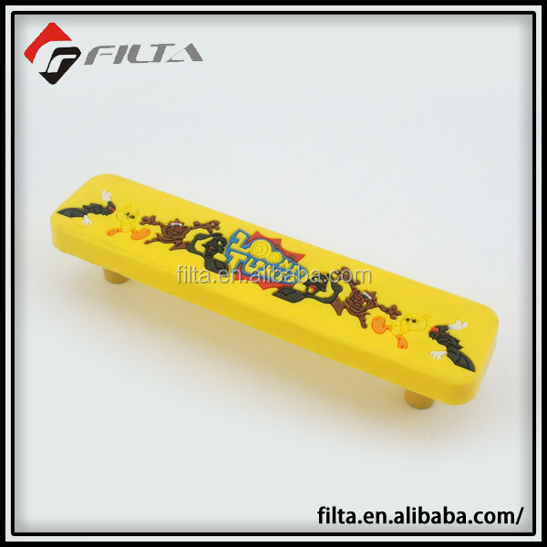 yellow cartoon cabinet plastic handle