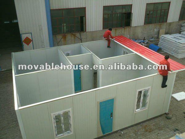 Bajo costo econ mico techo plano light acero prefab house - Casas prefabricadas low cost ...