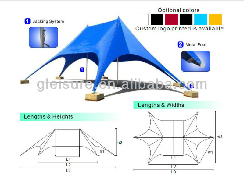 outdoor events display double peaks star tent
