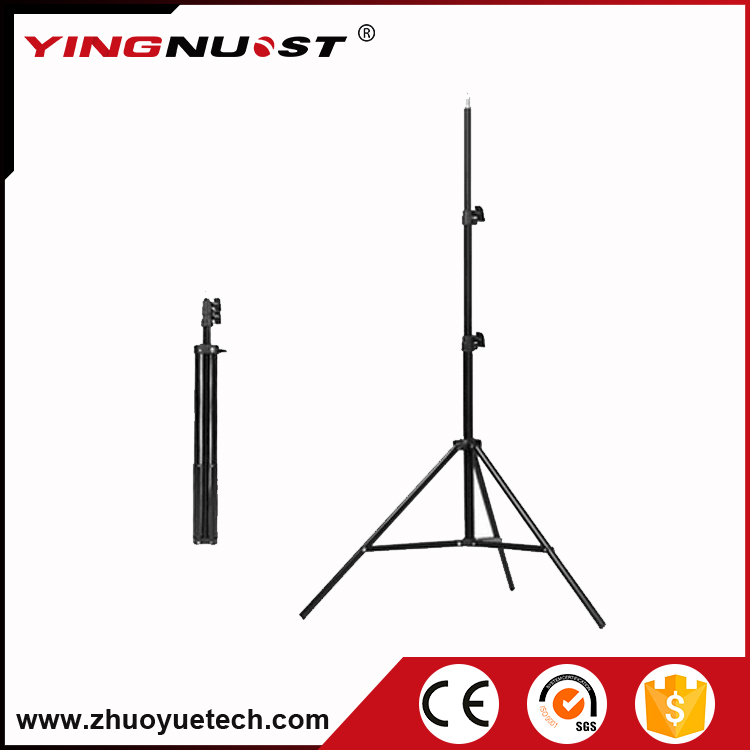 New 2.4m 7.87FT Aluminium Light Photo Stand Tripod 3 Sections Heavy Duty