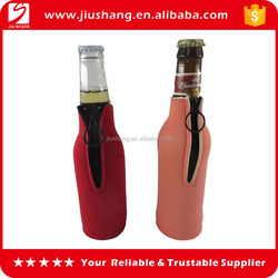 Hot sale custom neoprene beer bottle covers holder with zipper