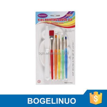 BM-B-7 Bomega Nylon Hair Children Paint brush Set With Palette and Palette Knife New style