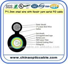 optical fiber internet 10 cores duct kabel GYXTC8S single mode fiber optic cable