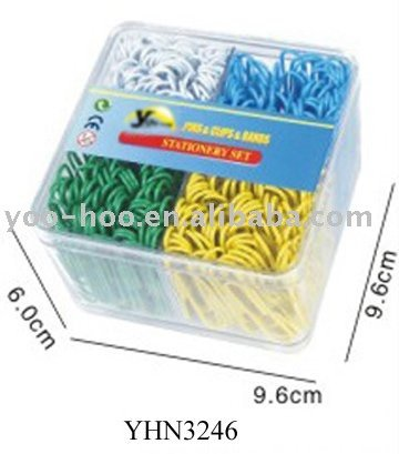 50mm Color paper clips packed in pp box