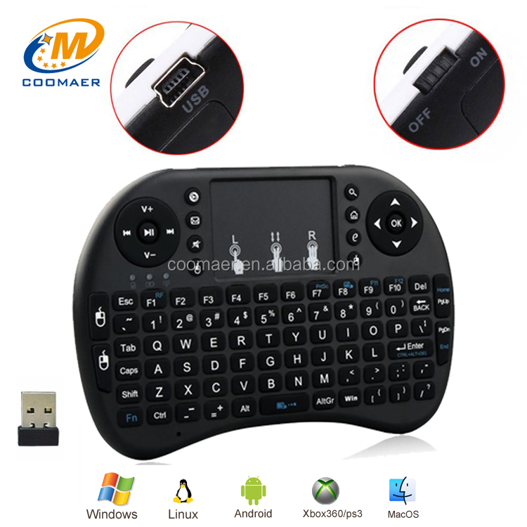 High Quality Stock Small Wireless Silicone Gaming Keyboard And Mouse For TCL Hisense Smart TV Laptop