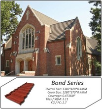 classical color stone coated steel roofing
